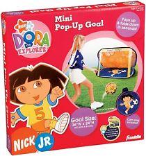 Franklin Dora the Explorer mini pop-up soccer goal 2006 in carry bag NEW