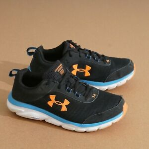 Under Armour Men Charged Assert Running Shoes Size 7.5 4E Black Blue 3022641-002