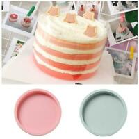8/6In Cake Mold Silicone Heart Round Mousse Bread Pan Bakeware Mould Baking Tray