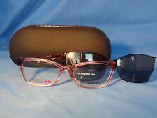 New Women's Takumi Eyeglass Frame with Polarized Magnetic Clip TK 1088 Pink 52