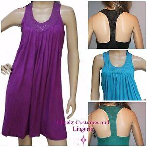 Tunic Top Cover Up Dress Beach Green, Purple, Black, Blue Size 10-14