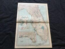 More details for antique map florida usa america the times 1889