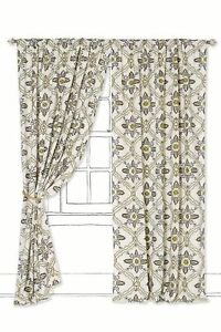 Anthropologie Tawi Embroidered Curtain Single-50 x 83