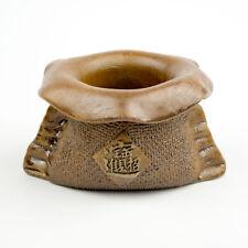 Money Bag Small Handmade Brown Ceramic Planter