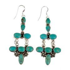 Navajo Turquoise Earrings Sterling Silver Sexy Chandelier Dangles Pierced