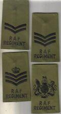 SET ROYAL AIR FORCE REGIMENT rankslides - COMBAT OLIVE