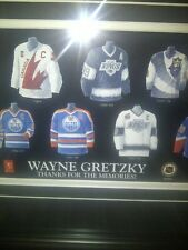 Wayne Gretzky NHL Hockey Museum framed Thanks for the Memories Poster Rare