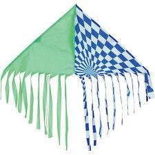 Green / Blue Fringe Delta Single Line Kite with Winder & String.7. Pr 17102