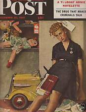 1947 Saturday Evening Post Dec 27-Rockwell Store Clerk