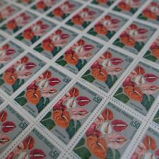 FEUILLE SHEET TIMBRE FLEUR MARTINIQUE N°1738 x50 1973 NEUF ** LUXE MNH