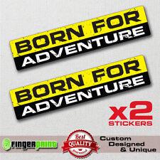 BORN FOR ADVENTURE decal sticker vinyl funny bumper 4X4 SUV JEEP OFFROAD GMC 4WD