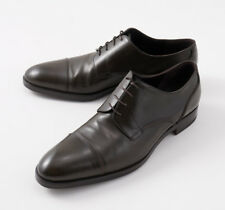NIB $700 FRATELLI ROSSETTI Dark Green Cap Leather Toe Derby US 10 Shoes (It 9)