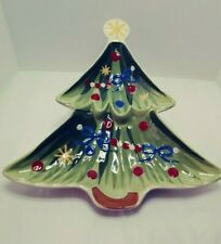 """Longaberger """"All the Trimmings"""" Christmas Tree Serving Dish"""