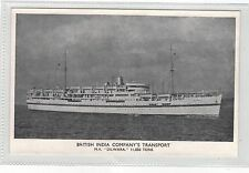 BRITISH INDIA CO.TRANSPORT M.V.DILWARA. OLD PRINTED POSTCARD SEE PICTURES