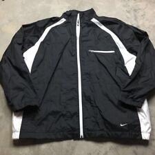 90s VTG NIKE AIR SWOOSH BLACK & WHITE Windbreaker XL Jacket Windrunner OG Logo