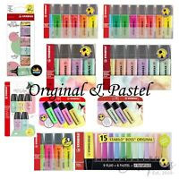 STABILO BOSS Highlighter Pens - Original + Pastel Colour Variations + Singles
