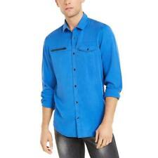 Collar de bolsillo con cremallera para hombre Inc Top Camisa BHFO 5198 Botones