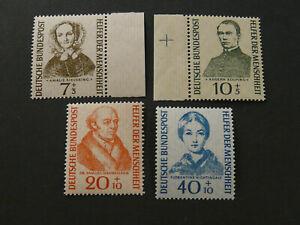 Bund, BRD, Mi.-Nr.: 222-225 , **, postfrisch, MNH, KW: 45,00