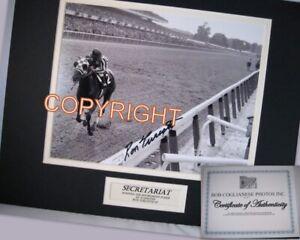 Secretariat Ron Turcotte Dble Mat 1973 Belmont Photo Triple Crown Originalsig