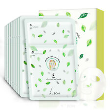 10 Sheets Korea A.by BOM Super Power Baby 2 Step Ultra Cool Leaf Mask