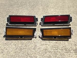 New 1981-1988 Monte Carlo SS Front and Rear Side Marker Lights Set of 4