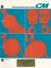 Hand & Electric Hoists 1984 Bulletin Columbus McKinnon Corp. Amherst NY