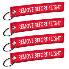 5x Remove Before Flight Key Chain Keychain Luggage Tag Zipper Woven Embroidery