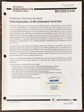 Motorola - Mc68040 3rd Generation 32-Bit Embedded Controller Data Sheet (1991)