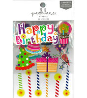 3 Sheets Happy Birthday Planner 3D Stickers Scrapbook  Stickers Embellishments