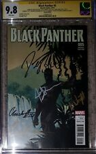 Black Panther #5_CGC 9.8_Signed by Cast: Boseman, Duke, Wright, Serkis, & Gurira