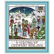 A CHRISTMAS CAROL cross stitch kit 14 ct size 36 x 43 cm  JOY SUNDAY BNIP