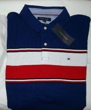 NWT MENS Tommy Hilfiger S/S Pique Mesh Polo Shirt~BLUE~XXL