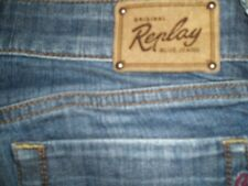 """womens replay pearl jeans W27 L30 , size 8 hems 6.5"""" wide"""