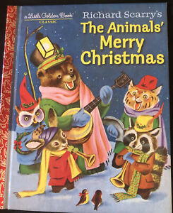 LGB Little Golden Book Richard Scarry's  Animals' Merry Christmas HB Like NEW