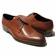 HUGO BOSS Brown ITALY Dress Mens Leather Oxford 11.5 44.5 Wingtip Brogue Casual