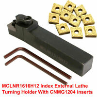 MCLNR1616H12 16×100mm Index External Lathe Turning Holders W/ CNMG1204 Insert