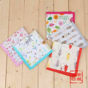 100% Combed Cotton Handkerchiefs Hanky Pocket Square Kids Girls Boys New 35*35cm