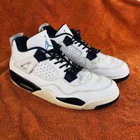 Nike Air Jordan IV 4 Retro LS Legend Mens Size 12 White Blue Columbia Shoes