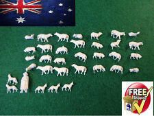 1:87 HO SCALE SHEEP 30 PCS FARM FIGURES LOCOMOTIVE LAYOUT MODEL TRAIN STEAM DOG