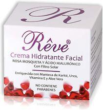 REVE CREMA HIDRATANTE FACIAL con rosa mosqueta- Vitamina E - Ácido Hialurónico