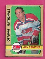 1972-73 OPC WHA # 326 NATIONALS GUY TROTTIER  HIGH # VG CARD (INV# A7975)
