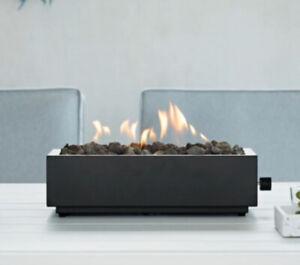 "16/"" 22/"" 28/"" Steel Dual Burner Pan Fireplace Fire Pit Fire Glass Gas Logs"