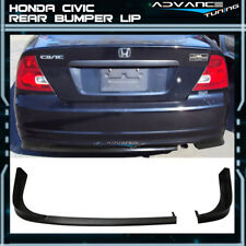 For 01-03 Honda Civic 2Dr Coupe TR Style Rear Bumper Lip PU Unpainted Black