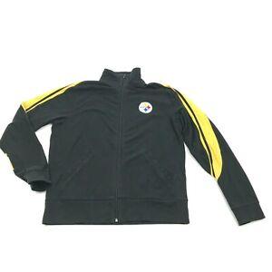 VINTAGE Pittsburgh Steelers Full Zip Sweater Size M Loose Black Long Sleeve NFL