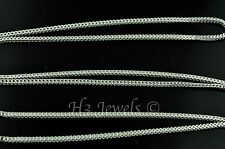 2.80 grams 18k solid white gold franco wheat chain necklace 18 inches #4099 h3