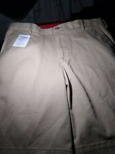 IZOD Saltwater Mens Relaxed Classic Stretch Washed Chino Shorts Size 32 Khaki