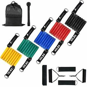 ROMIX Resistance Bands Set, 11 Pcs Exercise Bands Stackable Up To 150 lbs,