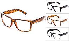 New Clear Lens glasses Vintage Retro Men Women Classic Large Plain Frame