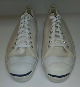 Vintage Converse Jack Purcell Shoes Made In USA 1970s Cream Sz 13