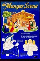 CHRISTMAS MANGER SCENE ~ 1950's Chrildren's Punch Out Activity Toy Book UNUSED!!